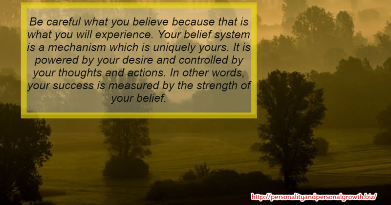 How Great is the Strength of Your Belief?